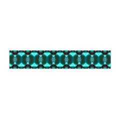 Fancy Teal Red Pattern Flano Scarf (Mini)