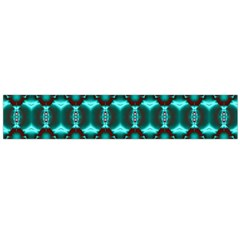 Fancy Teal Red Pattern Flano Scarf (Large)