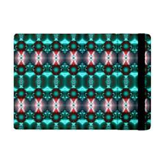 Fancy Teal Red Pattern Apple iPad Mini Flip Case