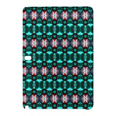 Fancy Teal Red Pattern Samsung Galaxy Tab Pro 10.1 Hardshell Case