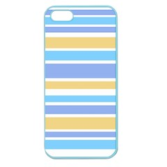 Blue Yellow Stripes Apple Seamless iPhone 5 Case (Color)