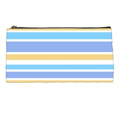Blue Yellow Stripes Pencil Cases