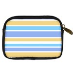 Blue Yellow Stripes Digital Camera Cases Back