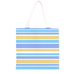 Blue Yellow Stripes Grocery Light Tote Bag