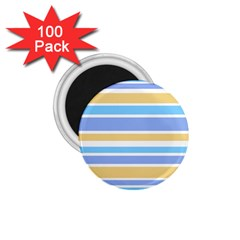 Blue Yellow Stripes 1.75  Magnets (100 pack)