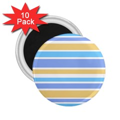 Blue Yellow Stripes 2.25  Magnets (10 pack)