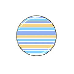Blue Yellow Stripes Hat Clip Ball Marker (10 pack)