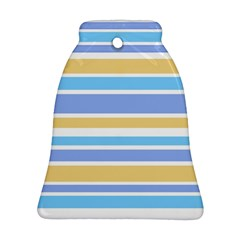 Blue Yellow Stripes Bell Ornament (2 Sides)