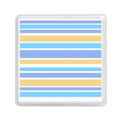Blue Yellow Stripes Memory Card Reader (Square)