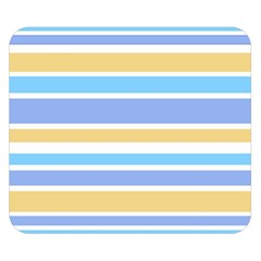 Blue Yellow Stripes Double Sided Flano Blanket (small)