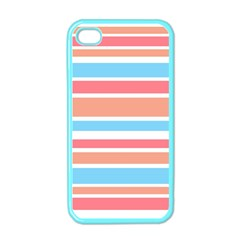 Orange Blue Stripes Apple iPhone 4 Case (Color)