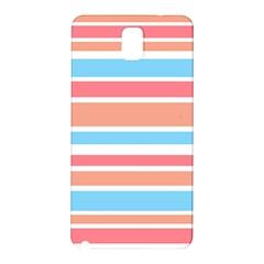 Orange Blue Stripes Samsung Galaxy Note 3 N9005 Hardshell Back Case