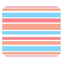 Orange Blue Stripes Double Sided Flano Blanket (small)
