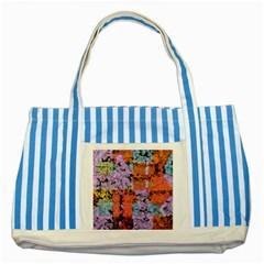 Paint texture                                     			Striped Blue Tote Bag