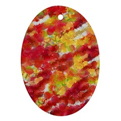 Colorful Splatters                                      			Ornament (Oval)