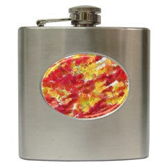 Colorful Splatters                                      			Hip Flask (6 oz)