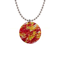 Colorful Splatters                                      			1  Button Necklace