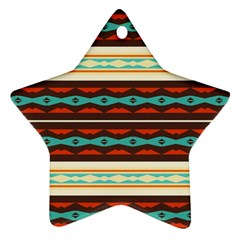 Stripes and rhombus chains                                      Ornament (Star)