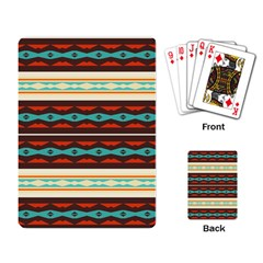 Stripes and rhombus chains                                      Playing Cards Single Design
