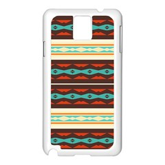 Stripes and rhombus chains                                      Samsung Galaxy Note 3 N9005 Case (White)