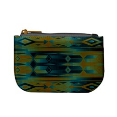 Blue green gradient shapes                                       	Mini Coin Purse
