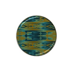 Blue green gradient shapes                                       			Hat Clip Ball Marker