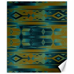 Blue green gradient shapes                                       			Canvas 8  x 10
