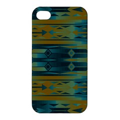 Blue green gradient shapes                                       			Apple iPhone 4/4S Premium Hardshell Case