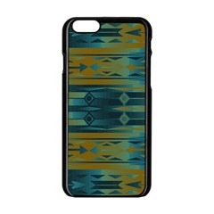 Blue green gradient shapes                                       			Apple iPhone 6/6S Black Enamel Case