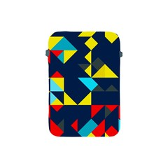 Colorful shapes on a blue background                                        Apple iPad Mini Protective Soft Case