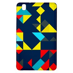 Colorful Shapes On A Blue Background                                        samsung Galaxy Tab Pro 8 4 Hardshell Case