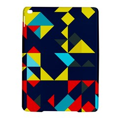 Colorful shapes on a blue background                                        Apple iPad Air 2 Hardshell Case