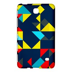 Colorful shapes on a blue background                                        Samsung Galaxy Tab 4 (8 ) Hardshell Case