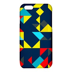 Colorful shapes on a blue background                                        			iPhone 6/6S TPU Case