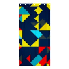 Colorful shapes on a blue background                                        Shower Curtain 36  x 72