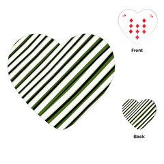 Diagonal Stripes Playing Cards (Heart)