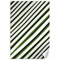 Diagonal Stripes Canvas 20  x 30