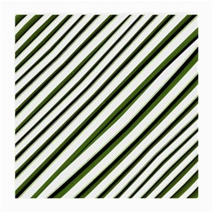 Diagonal Stripes Medium Glasses Cloth