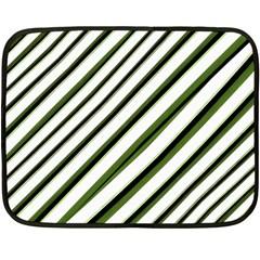 Diagonal Stripes Fleece Blanket (mini)