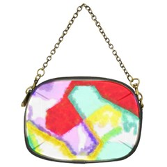 Watercolors shapes                                         Chain Purse (Two Sides)