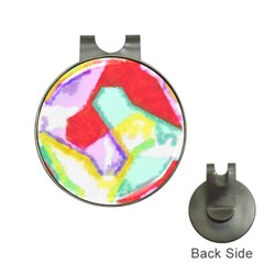 Watercolors shapes                                         			Golf Ball Marker Hat Clip