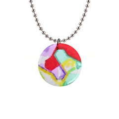 Watercolors Shapes                                         			1  Button Necklace