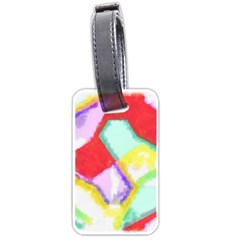 Watercolors shapes                                         			Luggage Tag (one side)