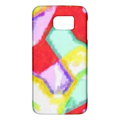 Watercolors Shapes                                         			samsung Galaxy S6 Hardshell Case