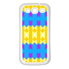 Rhombus and other shapes pattern                                          Samsung Galaxy S3 Back Case (White)