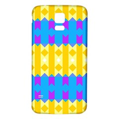 Rhombus And Other Shapes Pattern                                          samsung Galaxy S5 Back Case (white)