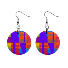 Misc colorful shapes                                           1  Button Earrings