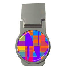 Misc colorful shapes                                           Money Clip (Round)