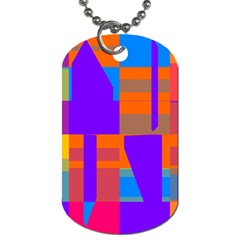 Misc colorful shapes                                           			Dog Tag (One Side)