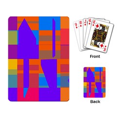 Misc colorful shapes                                           			Playing Cards Single Design